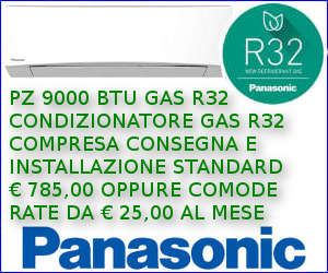 Offerta Condizionatore PANASONIC PZ 9000 a rate