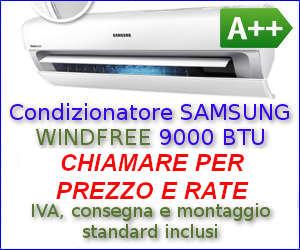 Offerta Condizionatore SAMSUNG WINDFREE 9000 BTU a rate