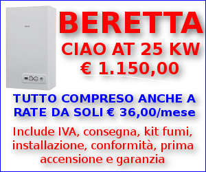 Offerta Caldaia Beretta Ciao AT 25 Kw anche a rate