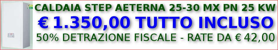 Caldaia STEP AETERNA 25-30 MX PN 25 KW in offerta
