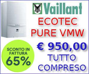 Caldaia Vaillant ecoTEC Pure VMW con sconto in fattura