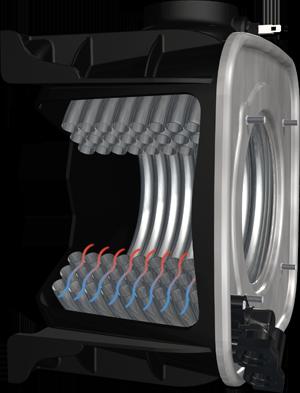 Acciaio al Titanio e assenza di saldature per le Caldaie Cosmogas a doppia condensazione