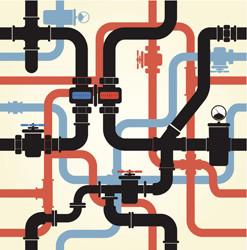 Tubature e rubinetti che possono contaminare acqua con piombo