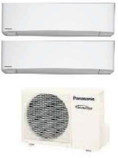 PANASONIC DUAL SPLIT 9000 12000 BTU GAS R32