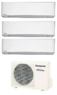 PANASONIC TRIAL SPLIT 9000 9000 12000 BTU GAS R32